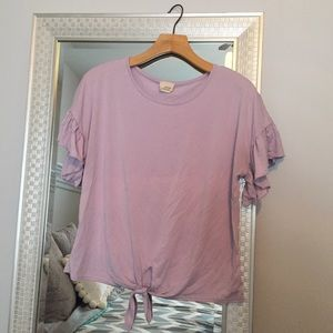 Women's Lavender Caution To The Wind Top